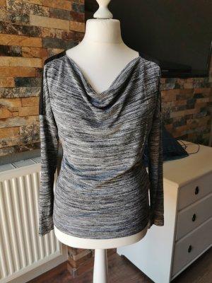Vero Moda Koszulka z dekoltem woda czarny-szary