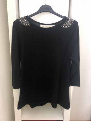 Zara Knit Knitted Top black
