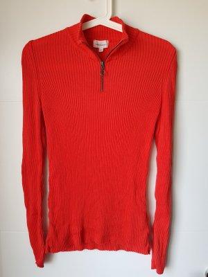 armedangels Prążkowana koszulka czerwony