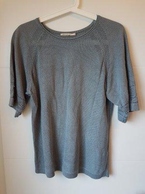 Armedangels Sweter z krótkim rękawem stalowy niebieski