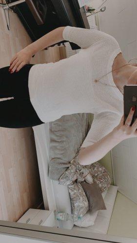Express Sweter z krótkim rękawem biały
