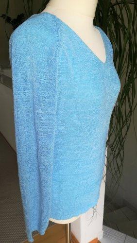 Hennes Collection by H&M Pull tricoté bleu clair tissu mixte