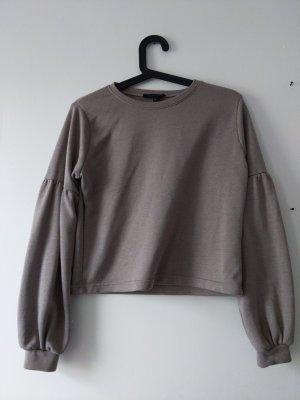 leichter Pullover • Langarmshirt • Größe 34 • taupe