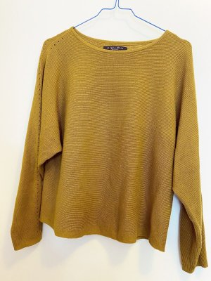 Leichter Pullover Senfgelb