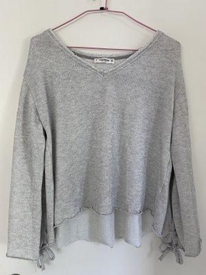 Leichter Pullover/Sweater, Pull&Bear, Größe S/36, hellgrau