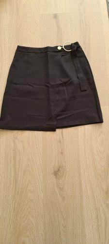 Bohoo Jupe mi-longue noir tissu mixte