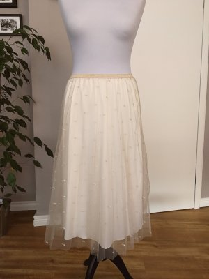 Zara Tulle Skirt gold-colored-cream