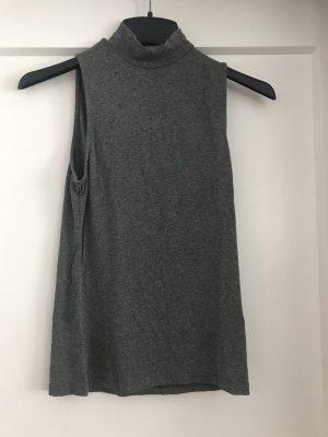 H&M Camisa de cuello de tortuga gris antracita