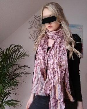 leichter rosafarbener Schal Tuch mit Blumenmuster