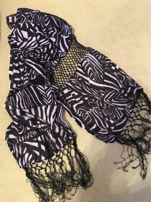0039 Italy Summer Scarf natural white-black cotton