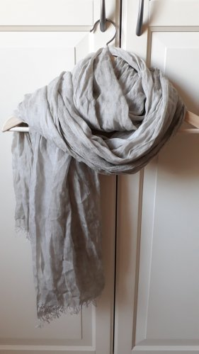 Made in Italy Summer Scarf light grey-oatmeal