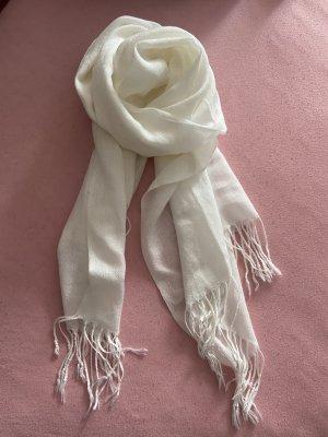 Pashmina Bufanda de flecos blanco