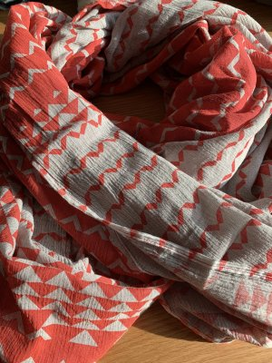 Neckerchief light grey-red