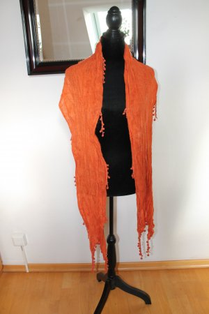 Crochet Scarf orange