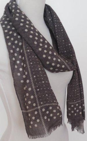 leichter Schal mit weißen Punkten (unisex)