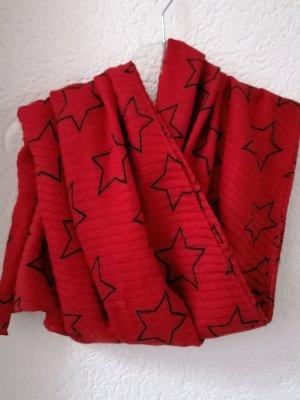 Codello Chal veraniego rojo-negro Poliéster