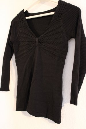 Bodyflirt Cable Sweater black cotton