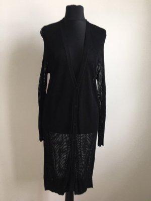 COS Veste en laine noir viscose