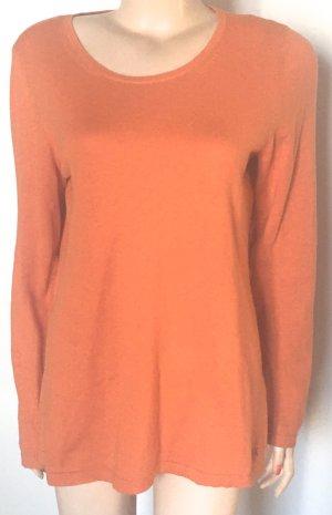 leichter Sommer-Pullover Escada Größe M orange mit Kaschmir