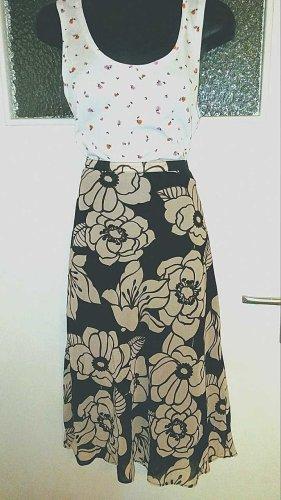 H&M Asymmetry Skirt oatmeal-brown