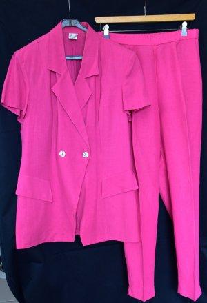 Alba Moda Tailleur-pantalon rose lin