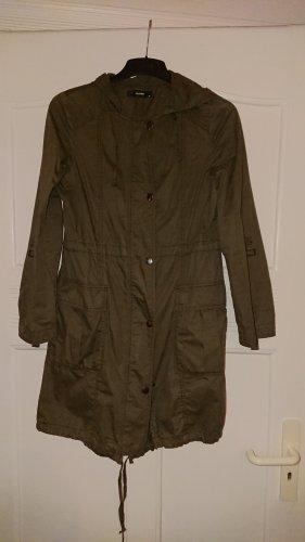 Hallhuber Long Jacket olive green cotton
