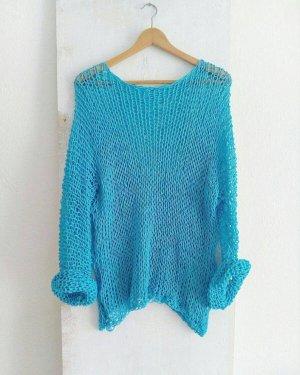 Oversized trui lichtblauw Katoen