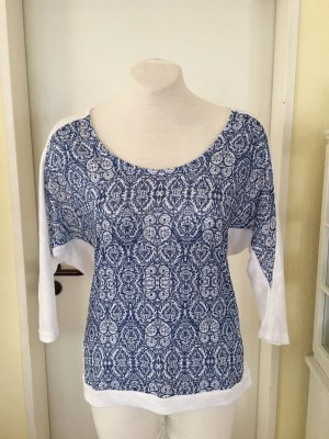 Orsay Jersey de manga corta blanco-azul