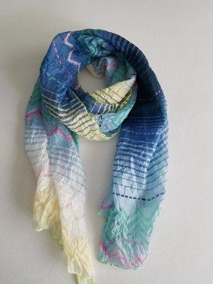 Écharpe froissée multicolore tissu mixte