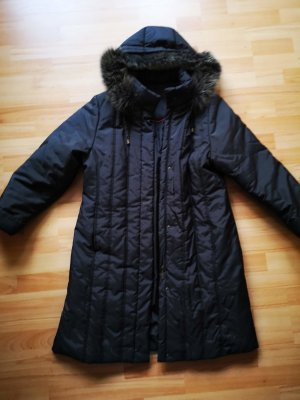 Quilted Coat anthracite polyester