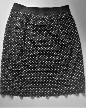 Clockhouse Broomstick Skirt black-white polyester