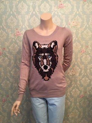Leichter Sweater mit Wolf