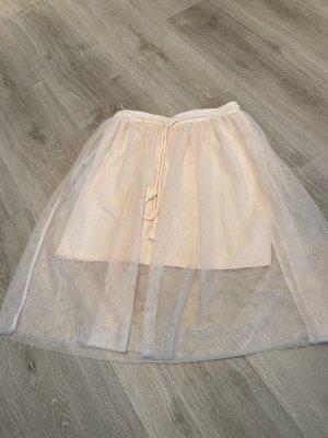 Manguun Falda de tul nude