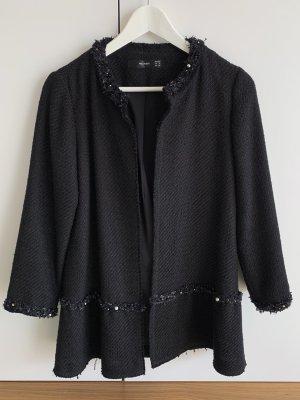 Hallhuber Krótki płaszcz czarny