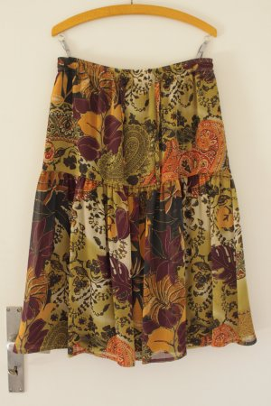 Vintage Flounce Skirt multicolored polyester