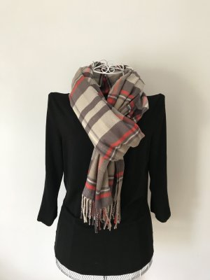 Gap Fringed Scarf camel-red