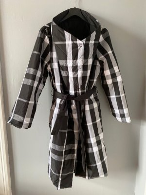 Luukaa Quilted Coat white-black polyester