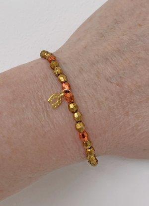 leichtes Armband in gold, mit Hufeisen-Anhänger, 17 cm lang
