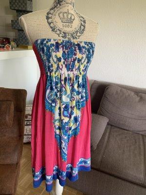 Vestido bandeau multicolor