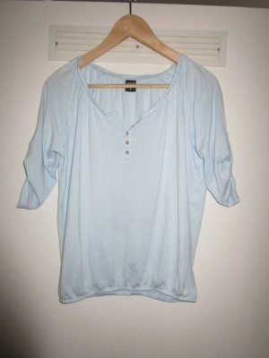 Lang shirt lichtblauw
