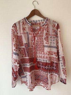 Leichtes Blusenshirt Tunika Gr. 40 im nordischen Folklore-Muster