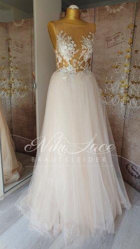 leichtes Brautkleid Hochzeitskleid cappuccino Blush Softtüll Gr 38 neu mit Etikett OUTLET