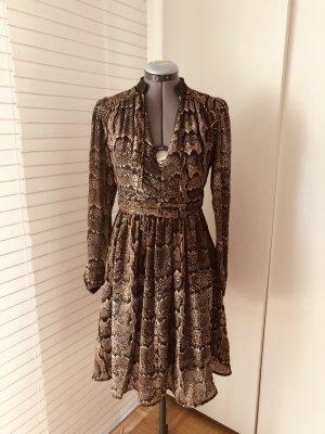 leichtes Chiffon-Kleid, Python-Print, Schlange, S/ 36