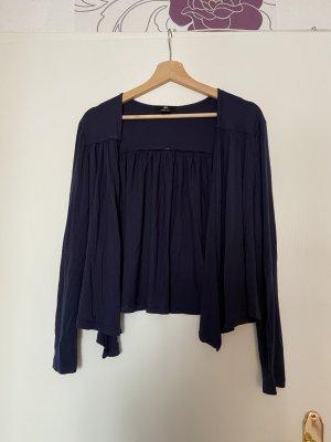 H&M Blouse Jacket dark blue viscose