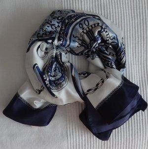 Fazzoletto da collo blu scuro-bianco sporco Poliestere