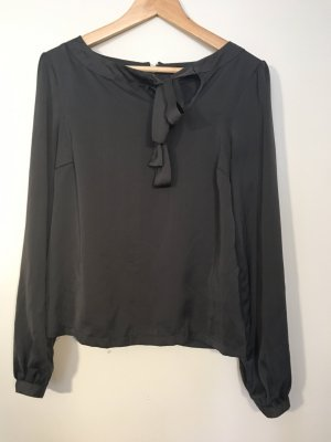 Amisu Blouse brillante gris anthracite