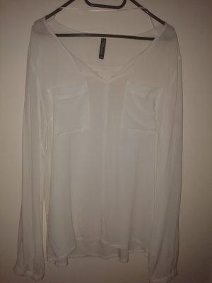 Leichtes elegantes weißes Hemd gr M