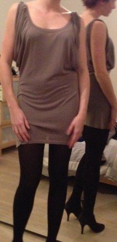 Leichtes gewebtes Kleid in Taube