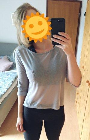 Leichtes graues Shirt mit 3/4 Arm