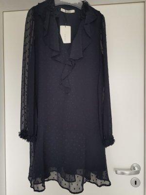 Zara Vestido estilo flounce azul-azul oscuro